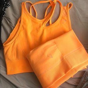 Bright orange Gymshark set
